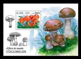 Angola 2018 Mih. 1915 (Bl.148) Flora Of The World. Mushrooms MNH ** - Angola