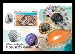 Angola 2018 Mih. 1925 (Bl.150) Fauna Of Angola. Marine Molluscs MNH ** - Angola