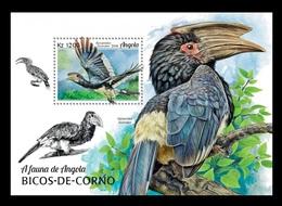 Angola 2018 Mih. 1965 (Bl.158) Fauna Of Angola. Birds. Hornbills MNH ** - Angola