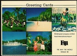Views Of Fiji  -  Greeting Cards  -  Mehrbild-Ansichtskarte Ca. 1980  (9829) - Fidji