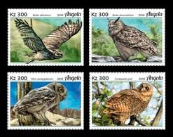 Angola 2018 Mih. 2011/14 Fauna Of Angola. Birds. Owls MNH ** - Angola