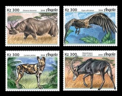 Angola 2018 Mih. 2016/19 Fauna Of Angola. Endangered Species MNH ** - Angola