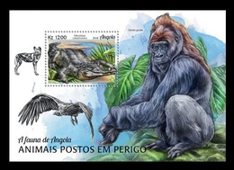 Angola 2018 Mih. 2020 (Bl.168) Fauna Of Angola. Endangered Species MNH ** - Angola