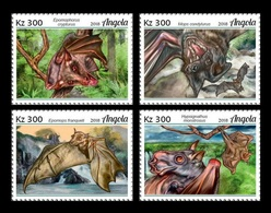 Angola 2018 Mih. 2021/24 Fauna Of Angola. Bats MNH ** - Angola