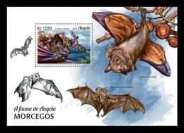 Angola 2018 Mih. 2025 (Bl.170) Fauna Of Angola. Bats MNH ** - Angola