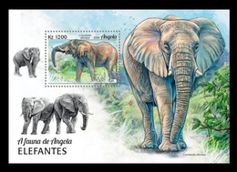 Angola 2018 Mih. 2050 (Bl.175) Fauna Of Angola. Elephants MNH ** - Angola