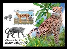 Angola 2018 Mih. 2055 (Bl.176) Fauna Of Angola. Big Cats MNH ** - Angola