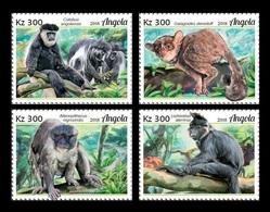 Angola 2018 Mih. 2056/59 Fauna Of Angola. Primates. Monckeys MNH ** - Angola