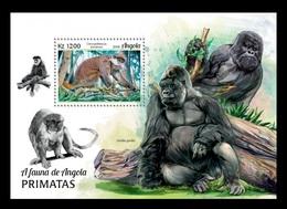 Angola 2018 Mih. 2060 (Bl.177) Fauna Of Angola. Primates. Monckeys MNH ** - Angola