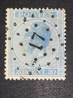 COB N° 18 Oblitération L17 Assche - 1865-1866 Profil Gauche