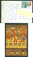 Denmark. Christmas Card 1980. Santa's Playing Music. Artist: Karen K. Postal Used, With Christmas Seal. - Santa Claus