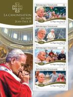 Togo 2014 The Canonization Of Popes (John Paul II) - Togo (1960-...)