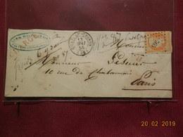 Lettre Chargée De 1855 Au Depart De Chateau Chinon Pour Paris (No 16) - 1849-1876: Periodo Classico