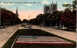 Wisconsin Milwaukee Floral Flag Grand Avenue Boulevard - Milwaukee