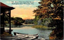 Wisconsin Milwaukee Washington Park River View From Boat House - Milwaukee