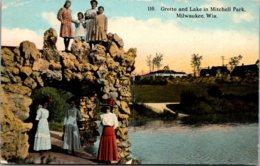 Wisconsin Milwaukee Mitchell Park Grotto And Lake 1913 - Milwaukee