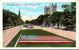 "Wisconsin Milwaukee Floral Flag ""Court Of Honor"" - Milwaukee"