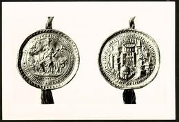 Goldbulle Kaiser Ludwigs Des Bayern 1328  -  Bayerisches Hauptstaatsarchiv  -  Ansichtskarte Ca. 1980  (9864) - Münzen (Abb.)