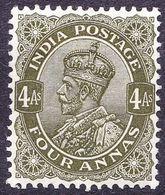 INDIA 1912 KGV 4 Anna Deep Olive SG174 MH - India (...-1947)