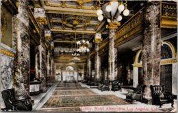 California Los Angeles Hotel Alexandria Lobby 1913 - Los Angeles