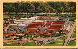 California Burbank First National Studios Curteich - United States
