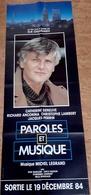 """AFF CINE ORIG NEUVE """"PAROLES ET MUSIQUE"""" (1984) C Deneuve C Lambert R Anconina J Perrin 60x160cm - Posters"""