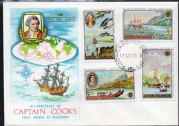 COOK Is, 1968 COOKS  VOYAGES FDC - Cook Islands