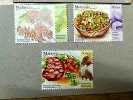 Malaysia 2019 Exotic Food Cuisine Grasshopper Porcupine Stamp Set MNH - Malaysia (1964-...)