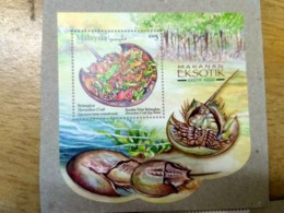 Malaysia 2019 Exotic Food Cuisine Grasshopper Porcupine Stamp Miniture MS MNH - Malaysia (1964-...)