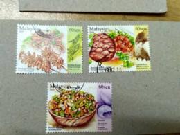 Malaysia 2019 Exotic Food Cuisine Grasshopper Porcupine Stamp Set Used - Malaysia (1964-...)