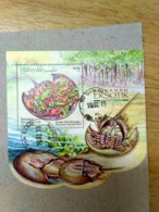 Malaysia 2019 Exotic Food Cuisine Grasshopper Porcupine Stamp Miniture MS Used Stamp - Malaysia (1964-...)