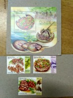 Malaysia 2019 Exotic Food Cuisine Grasshopper Porcupine Stamp Miniture MS Used Stamp Combo Set + MS Used - Malaysia (1964-...)