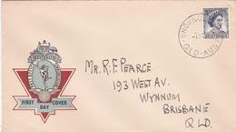 Australia 1959 Queen Elizabeth II,5d Blue,Official Post Officen FDC Type 1 - FDC