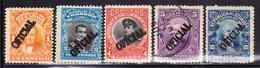 ECUADOR 1911-1922 OFFICIAL SERVICE SURCHARGED IN PRES. ROCA NOBOA VALDEZ URBINA GARCIA MORENO MNG-O SC# O127-O131-O132 - Equateur