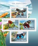 Togo  2014  Fauna  Butterflies - Togo (1960-...)
