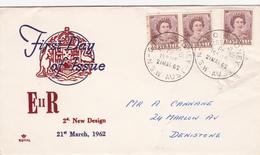 Australia 1962 Queen Elizabeth II,2d Brown,Royal,FDC Type 2 - FDC