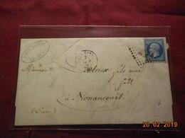 Lettre De 1859 Avec No 14 Au Départ De Orléans à Destination De Nonancourt - Marcophilie (Lettres)