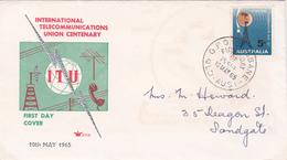 Australia 1965 Centenary Of ITU,Royal, FDC Type 2 - FDC