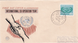Australia 1965 International Co-operation Year,WCS,FDC - FDC