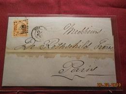Lettre De 1862 Avec No 16 Au Départ De Lyon à Destination De Paris - Marcophilie (Lettres)