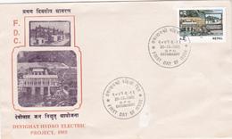 Nepal 1985 Devighat Hydro Electric Project,FDC - Nepal