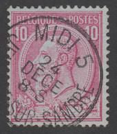 COB N° 46 - Belle Oblitération - MIDI 5 JEMEPPE SUR SAMBRE - 1884-1891 Léopold II