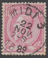 "COB N° 46 - Oblitération ""CONCOURS"" MIDI 3 - 1884-1891 Léopold II"