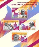 Togo  2014  The Canonisation Of  Pope John XXIII And Pope  John Paul II - Togo (1960-...)
