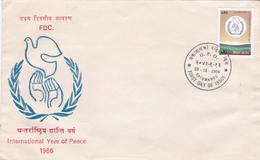 Nepal 1986 International Year Of Peace,FDC - Nepal