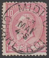 COB N° 46 - Belle Oblitération - MIDI 6 CHARLEROI - 1884-1891 Léopold II