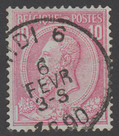 COB N° 46 - Belle Oblitération - MIDI 6 - 1884-1891 Léopold II