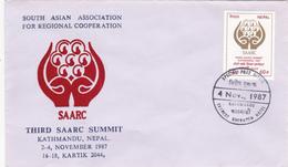 Nepal 1987 Third SAARC Summit,FDC - Nepal