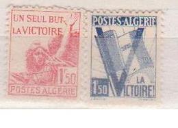 ALGERIE         N°  YVERT  :   198/99       NEUF AVEC  CHARNIERES      ( Ch 1/19  ) - Algérie (1924-1962)