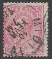 COB N° 46 - Oblitéré - MIDI IV - 1884-1891 Léopold II